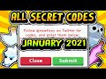 """ALL SECRET ADOPT ME CODES JANUARY 2021!!"" New Years FREE Pet / Bucks Codes (Roblox)"