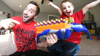 Father & Son GET RAD NERF BOW / Target Practice Time!