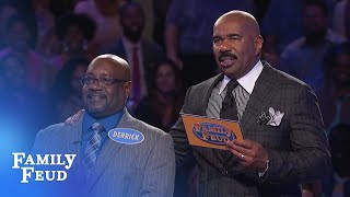 Derrick's on 196 points! Can he get FOUR more for $20,000? | Family Feud