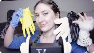 ASMR Gloves! Rubber, Faux Fur, Leather, Nitrile etc - Crinkling & Ear Massage/Cupping 2hrs