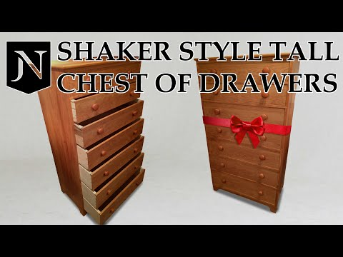 Making a Shaker chest of drawers