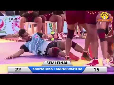 SEMIFINAL/THE FEDERATION CUP 2018/MAHARASHTRA VS KARNATAKA/KABADDI