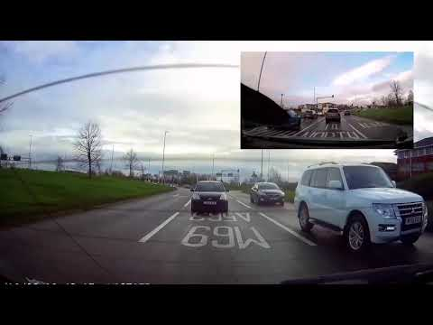 Dash Cam Footage Of A Typical Road Bully In A Shogun