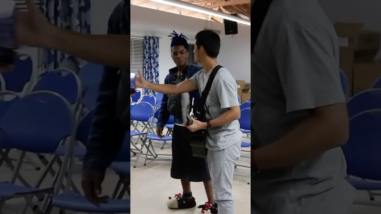 XXXTentacion talking to an orphanage child, giving him advices on life