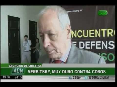 Horacio Verbitsky no tuvo vueltas y lanzó: Andate Cobos, la puta que te parió