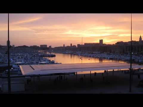 Sunset  Vieux Port Marseille France relaxing video