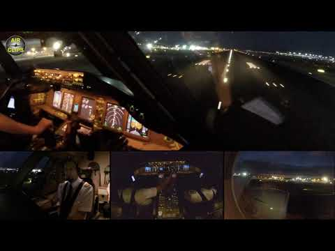 BREATHTAKING powerful B777F Takeoff of Lufthansa Cargo out of Frankfurt at night!  [AirClips]