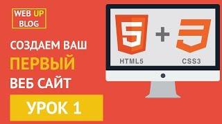 Курс основы HTML и CSS -  Урок 1 Создаем html файл, структура html документа