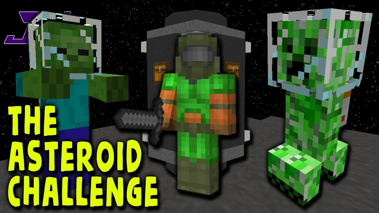 LOST IN SPACE! The Asteroid Challenge! | Minecraft Galacticraft Asteroid  Challenge | Episode 1