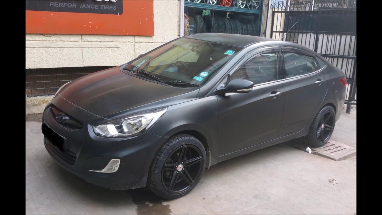 Hyundai Verna Matte Black