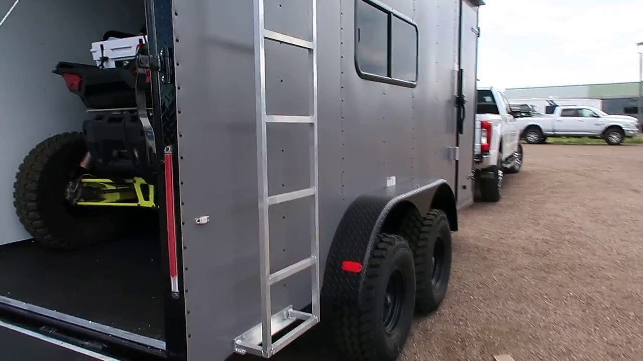The Ultimate Utv Toy Hauler Off Road Trailer We Load A Rzr Xp 1000 With 32 Inch Tires