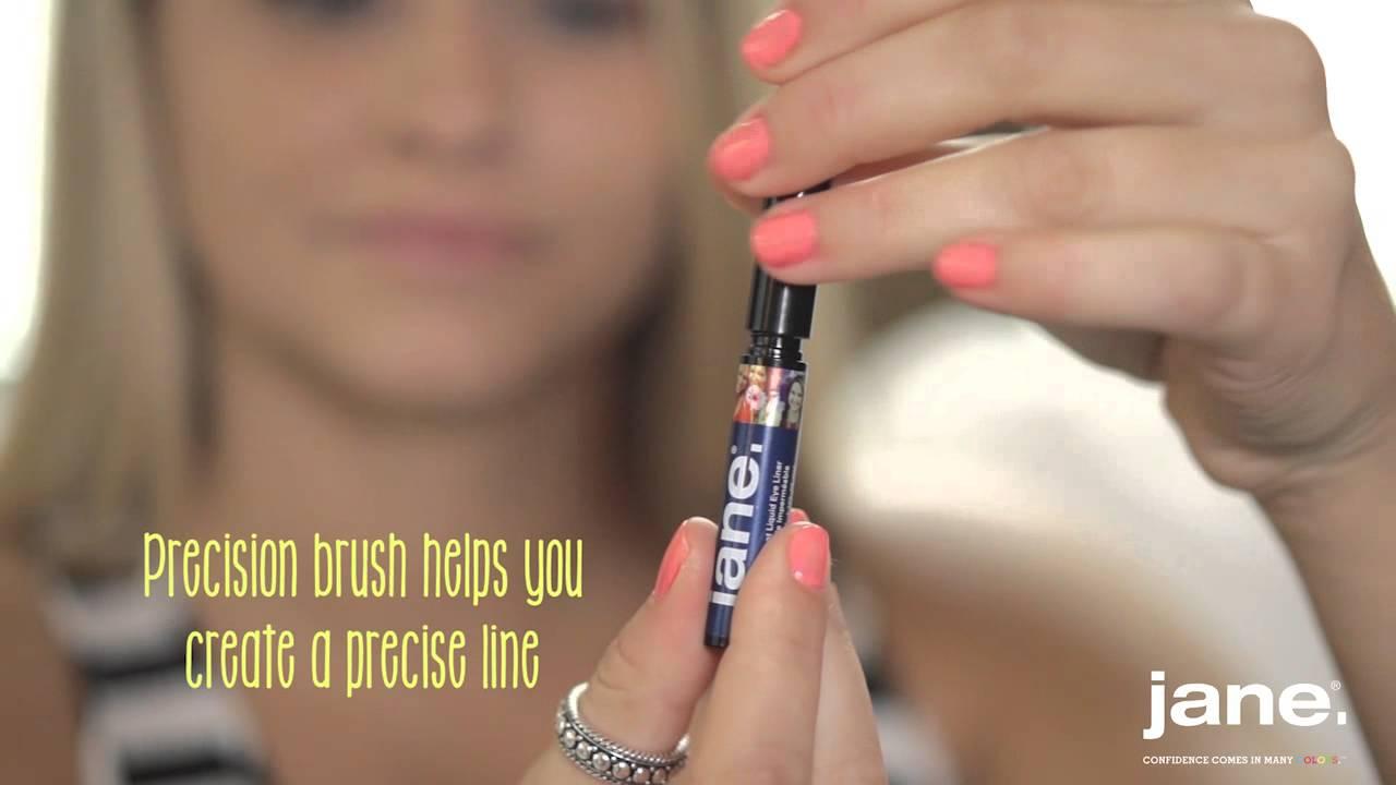 Jane Water-Resistant Liquid Eye Liner - YouTube
