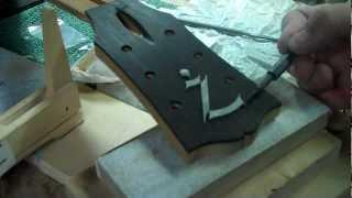 Inlaying the Weeping Zee Logo- Paua Abalone Shell Inlay