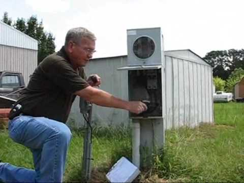 hqdefault mobile home electrical connection youtube