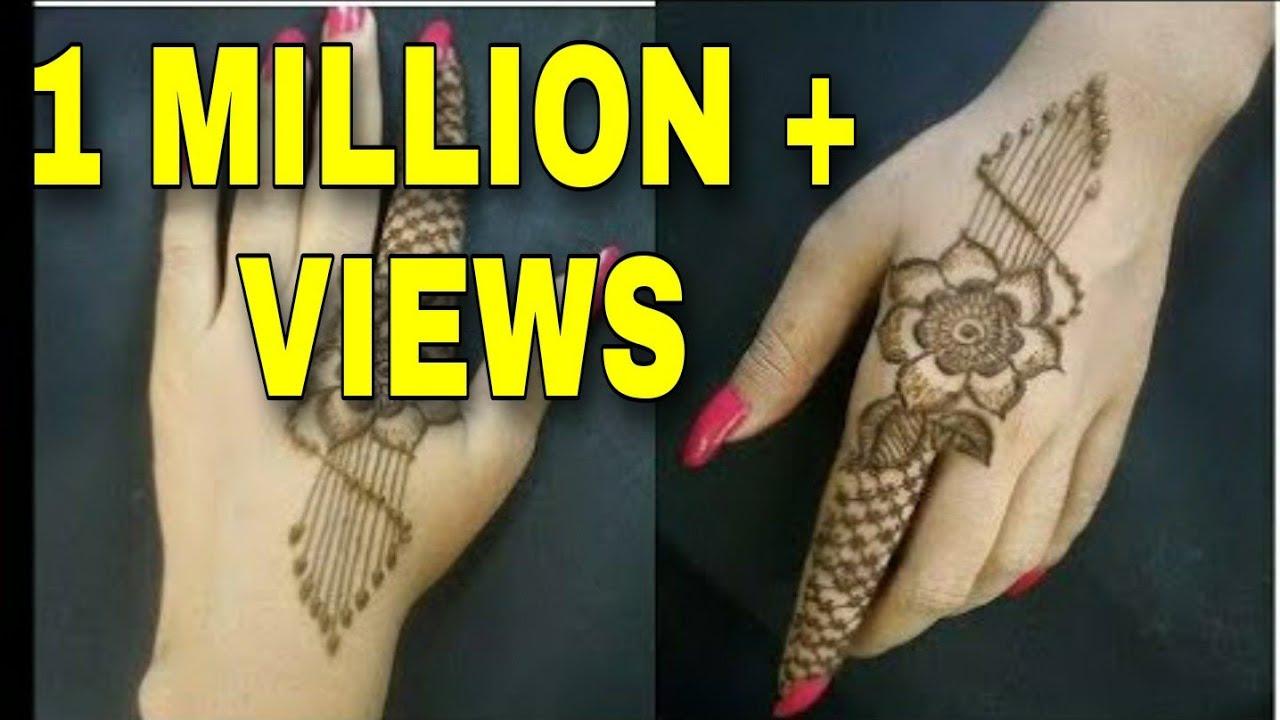 simple one finger mehndi designs / latest back hand mehndi designs / henna  design