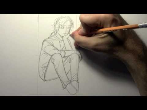 How to Draw Poses Sitting HTD Video 8 YouTube