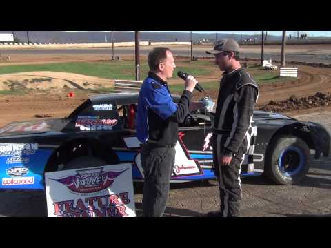 Austin Johnson in Victory Lane at Path Valley