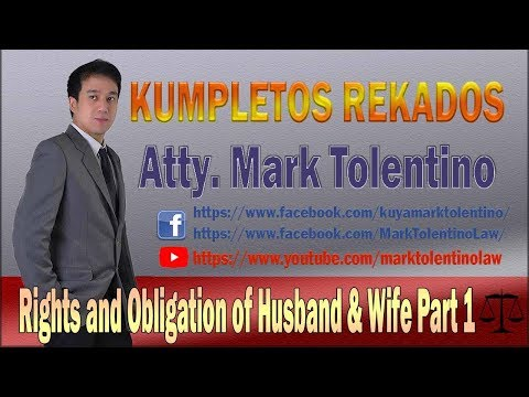 RIGHTS AND OBLIGATION OF HUSBAND & WIFE   PART 1