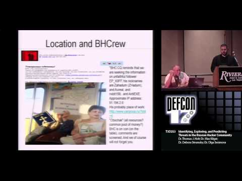 DEFCON 17: Identifying, Exploring, and Predicting Threats in the Russian Hacker Community