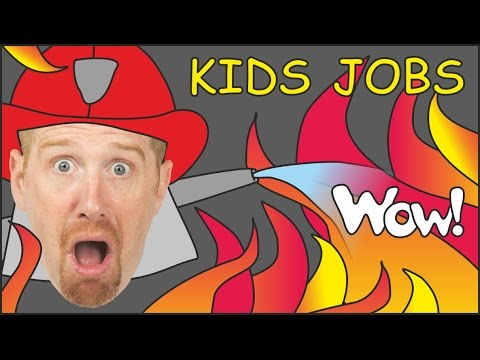 Jobs for Kids & Jobs Song from Steve and Maggie | English Stories for Kids