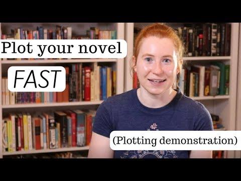 How to Plot Your Novel FAST (editor demonstrates plotting technique)