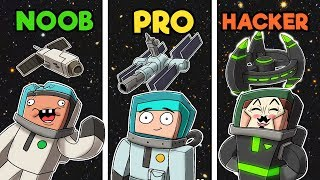 Minecraft - SPACE STATION! (NOOB vs PRO vs HACKER)