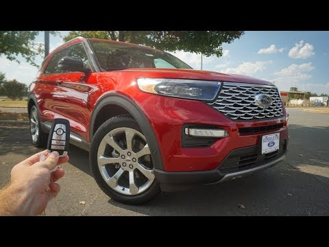 2020 Ford Explorer Platinum: Start Up, Test Drive, Walkaround and Review