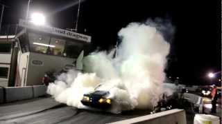 Super SMOKEY Burnout at SmokinStangs Laconia 2012 - Contest Winner