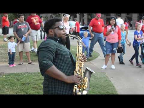Uptown Funk Street Saxophone