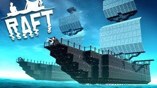 Creating a Massive Pirate Ship Raft! - Raft Gameplay