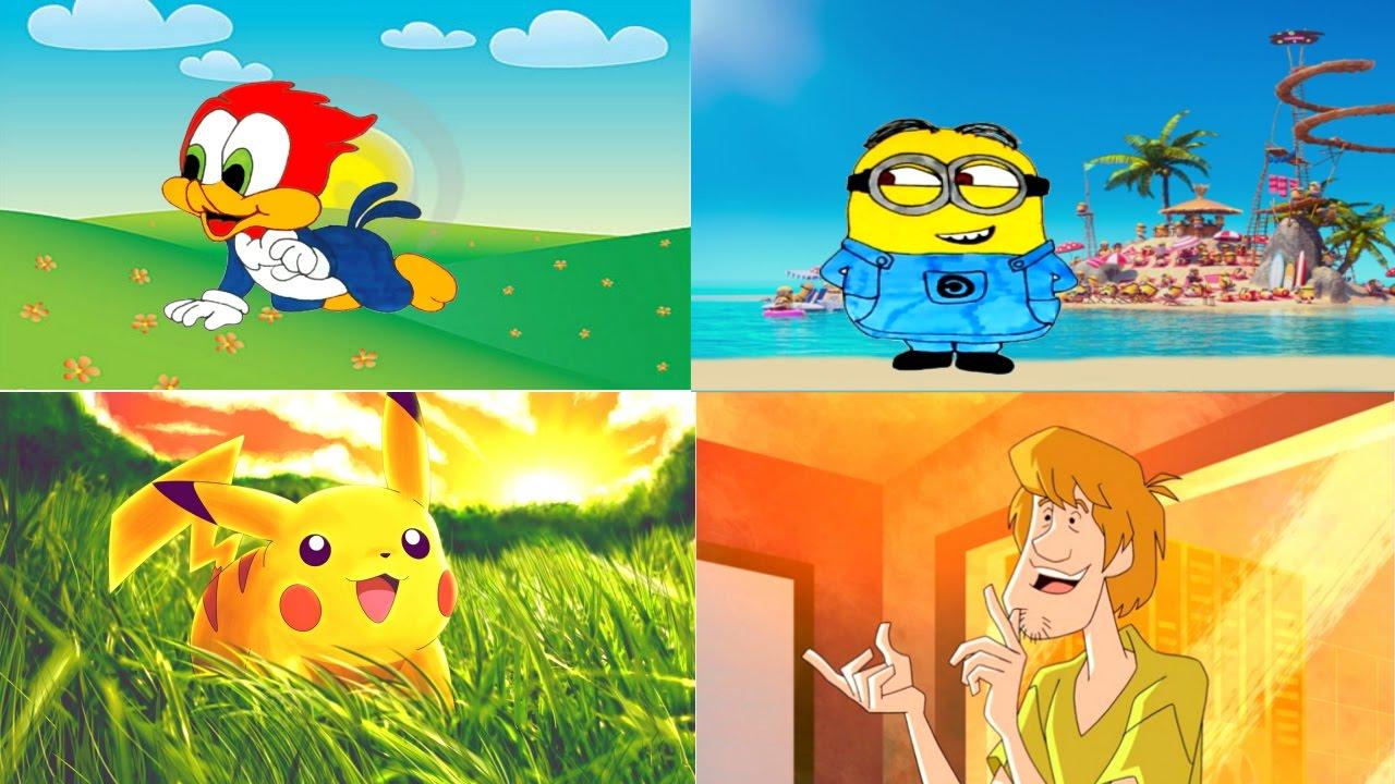 Desenhos Completos Pica Pau Bebe Os Minions Pikachu Pokemon Go E