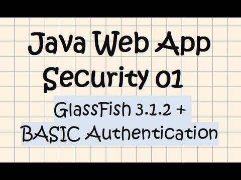 Security In A Java Web Application - Tutorial 01 (GlassFish + Basic Authentication)