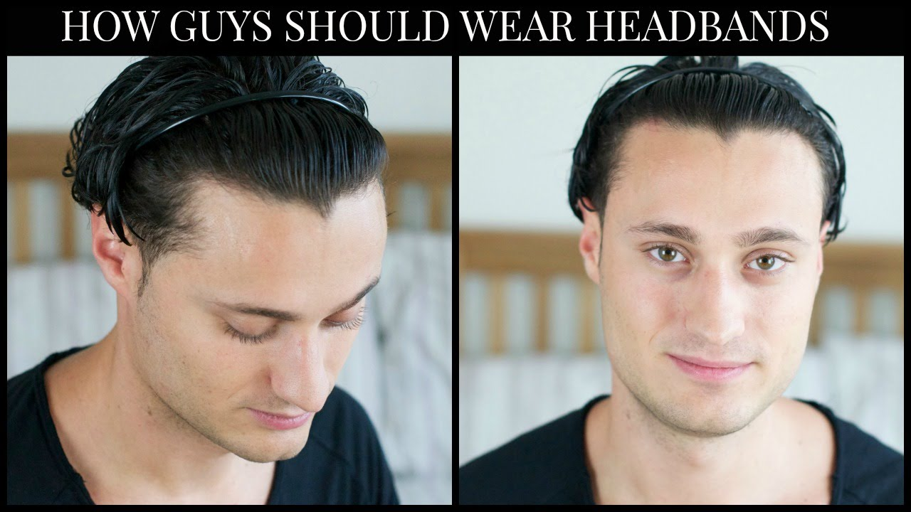 HOW GUYS SHOULD WEAR A HEADBAND - YouTube c9b6eb2b3d1