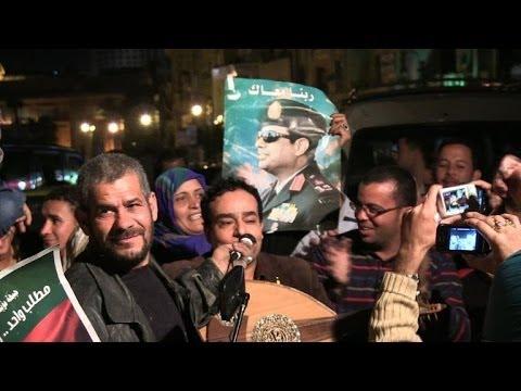 Egyptians react to Sisi's run for president