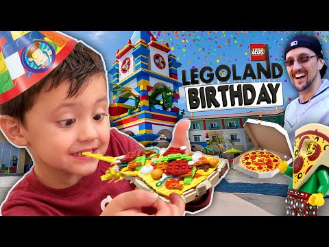 LEGOLAND BIRTHDAY!  Shawn Turns 4!!  (FV Family 4th Bday Vlog)
