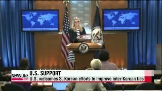 U.S. welcomes S. Korean efforts to improve inter-Korean ties   미 국무부,박근혜 대통령 신년기