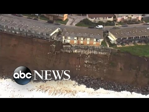 Eroding Cliffs Threaten Residences Along the California Coas