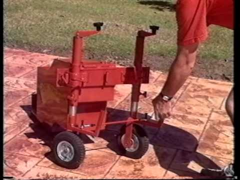 edgemaster landscape curbing machine maintenance video youtube