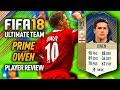 FIFA 18 PRIME OWEN (91) *ICON* PLAYER REVIEW! FIFA 18 ULTIMATE TEAM!