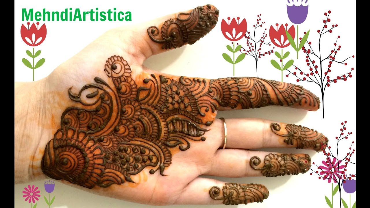Beautiful Easy Arabic Hinna Mehndi Designs For Hands Simple Mehandi
