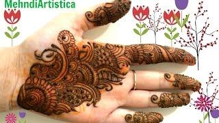 Gambar cover Beautiful Easy Arabic Hinna Mehndi Designs For Hands|Simple Mehandi BY MehndiArtistica
