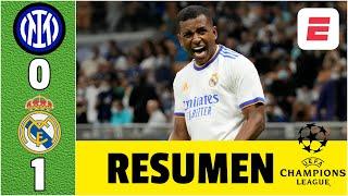 Inter 0-1 Real Madrid. DRAMÁTICO GOL de Rodrygo con asistencia de Camavinga | Champions League
