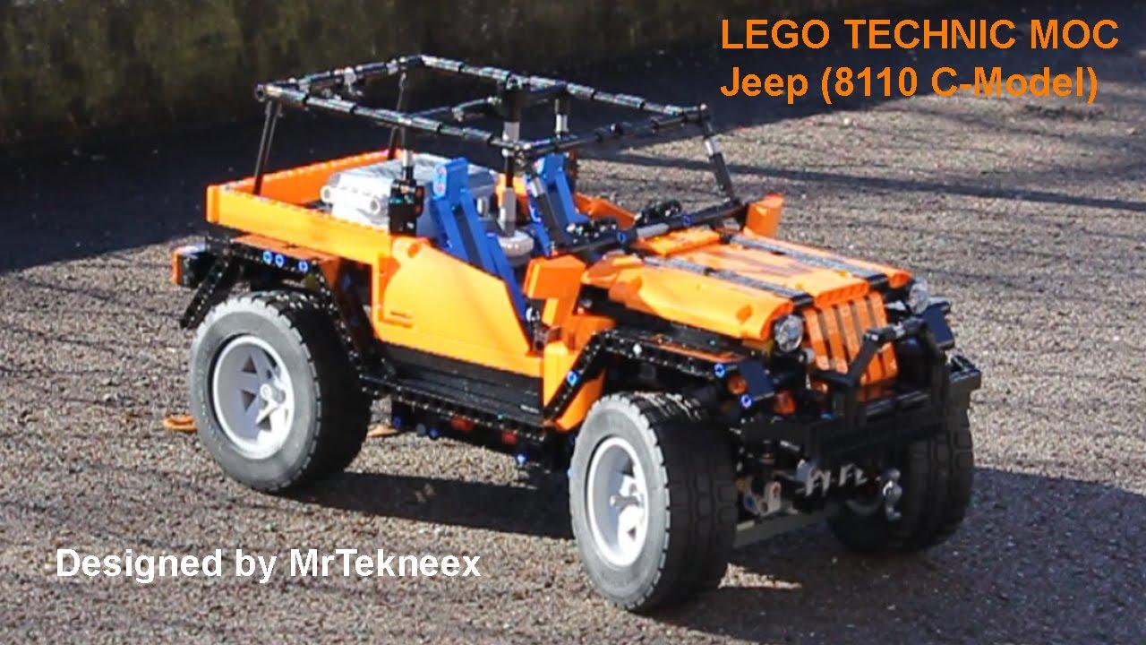 lego technic jeep 8110 unimog c model youtube. Black Bedroom Furniture Sets. Home Design Ideas