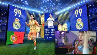 99 tots ronaldo in the most unbelieveable tots pack opening ever   fifa 18