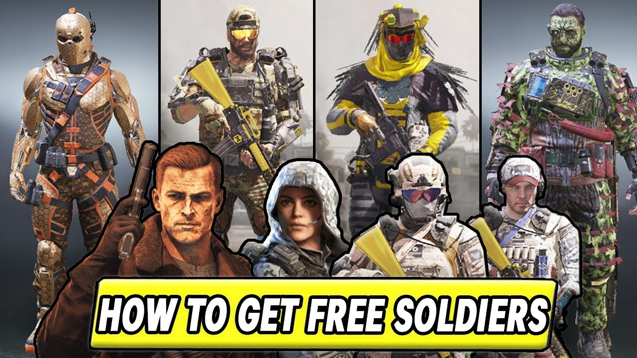 How To Unlock Free Character Skins In Cod Mobile Call Of Duty Mobile Season 6 Free Soldier Skins Youtube