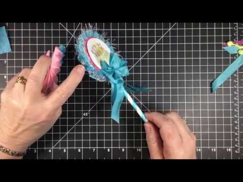 Crepe Paper Rosette Wand