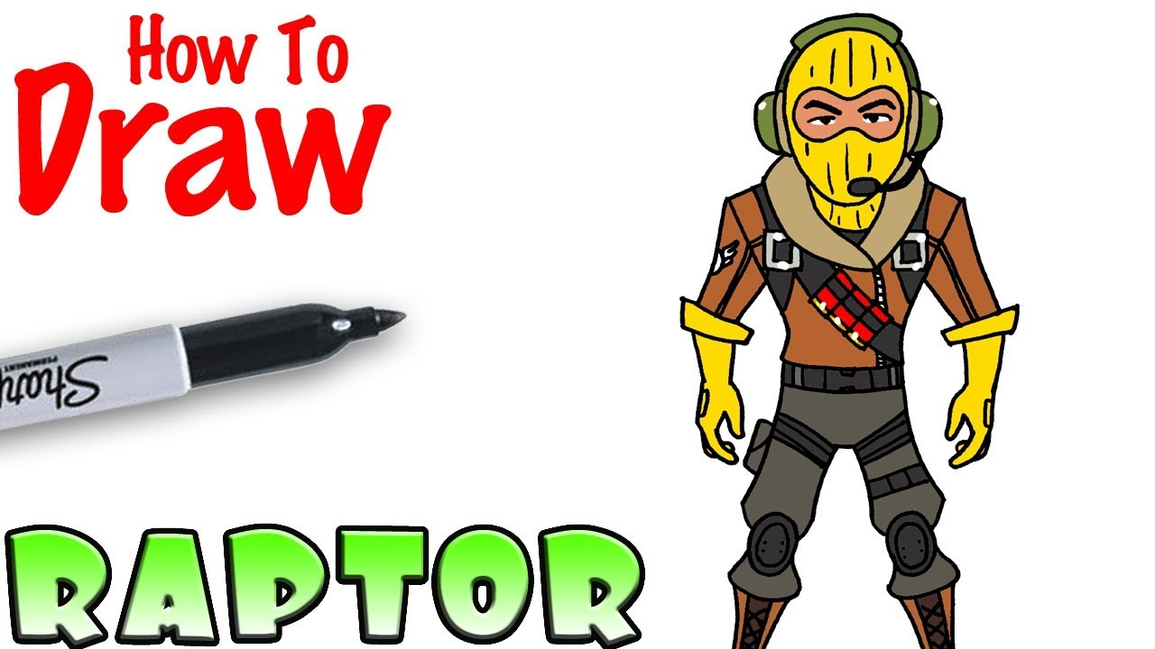 How To Draw Raptor Fortnite Clipzui Com