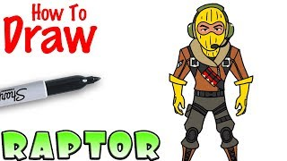 How to Draw Raptor | Fortnite