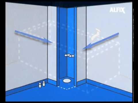 vådrumsmembran badeværelse Vandtætning i badeværelse   regler for våde rum   Alfix   YouTube vådrumsmembran badeværelse