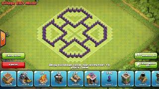 Best TH6 Farming Base! Anti Giant-Healer Clockwork6 Clash of Clans Speed Build